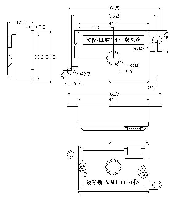 GDS06红外PM2.5传感器带锁螺丝孔型
