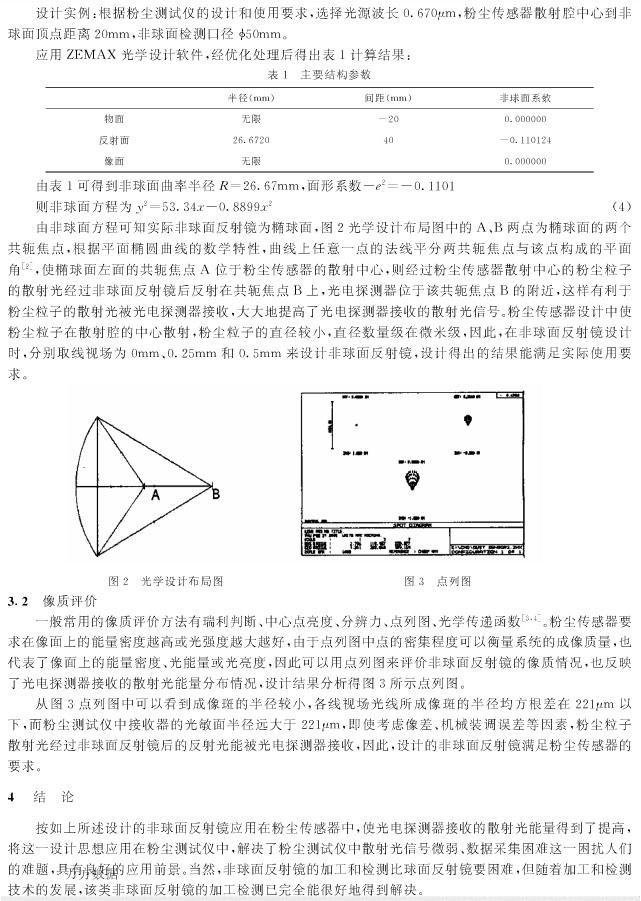 粉尘传感器中非球面反射镜的应用于设计-p3