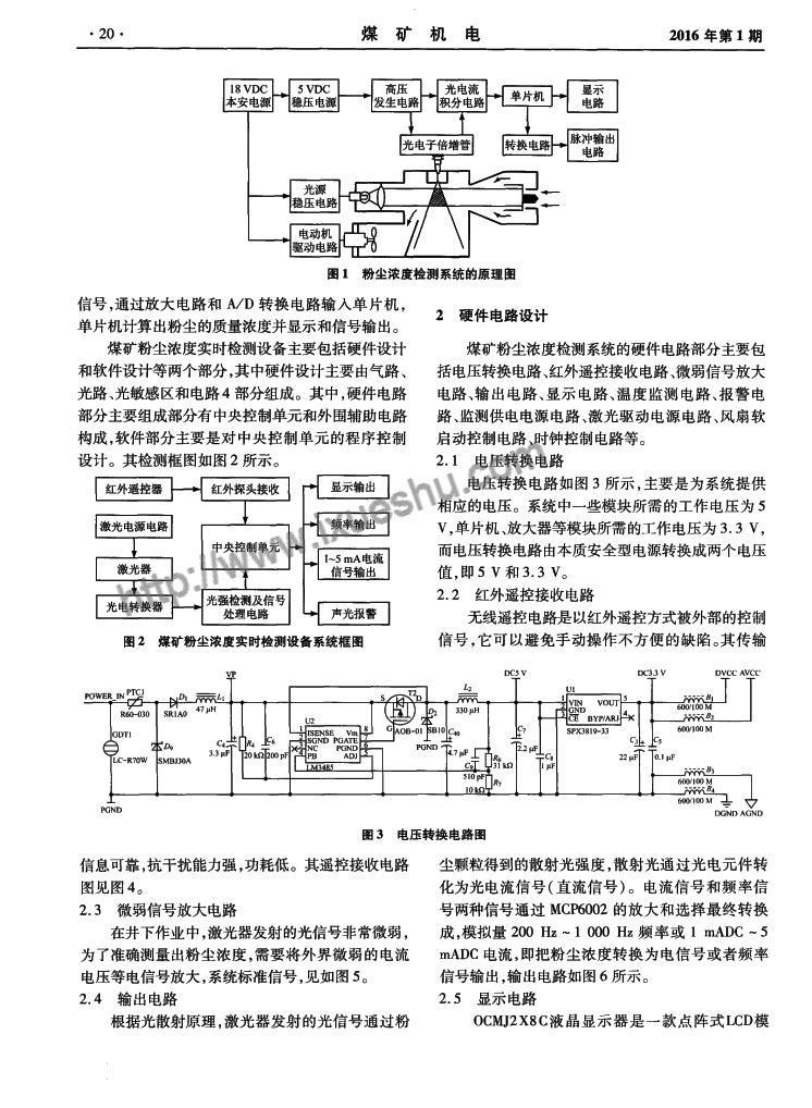 煤矿粉尘浓度实时检测系统的设计与实现-P2