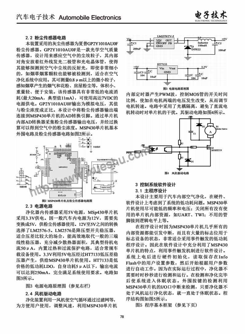 基于光学粉尘传感器的车载空气净化装置设计-P2