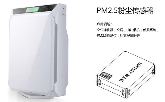pm2.5<a href='http://www.luftmy.com/h-col-806.html' target='_blank'><u>粉尘传感器</u></a>应用