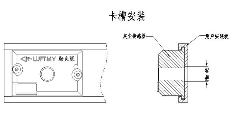 红外PM2.5传感器模块GDS06标准型固定方式