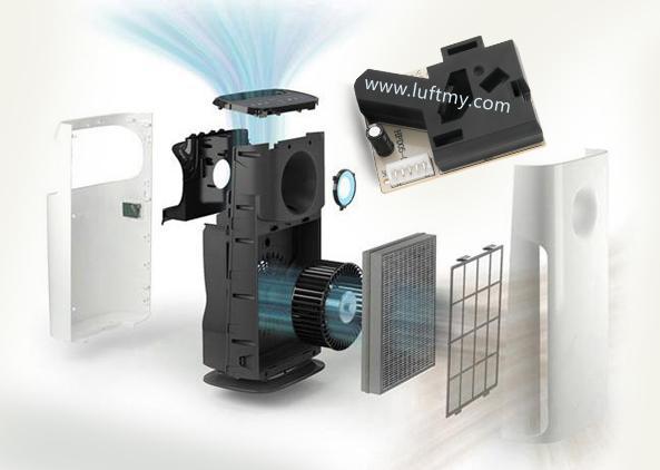 内置空气质量传感器的空气净化器