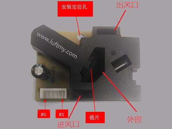 pm2.5颗粒灰尘传感器工作结构-勒夫迈LUFTMY