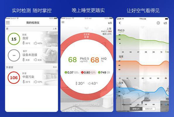 查看室内空气质量检测仪数据-勒夫迈LUFTMY