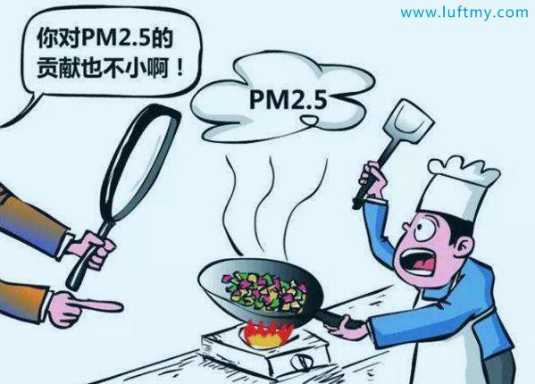厨房重地的空气PM2.5-勒夫迈LUFTMY