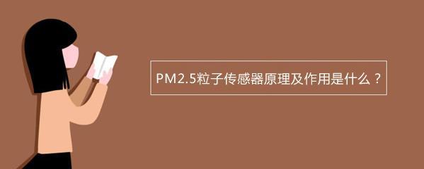 PM2.5粒子传感器原理及作用是什么?-勒夫迈LUFTMY